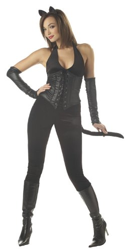 California Costumes Women's Feline Fatalle Costume,Black,Small