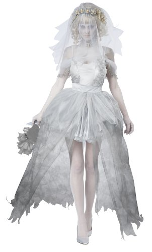 California Costumes Women's Ghostly Bride Adult, Grey, Small