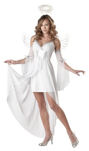 California Costumes Women's Heaven's Angel Costume,White,Large