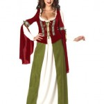 California-Costumes-Womens-Maid-Marian-Marion-Renaissance-Medieval-L-Red-And-Olive-0-0
