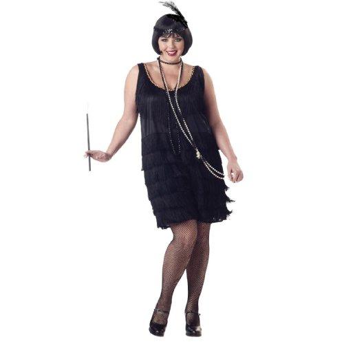 California Costumes Women's Plus-Size Fashion Flapper Plus, Black, 3XL (20-22)