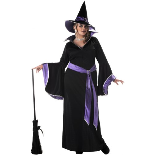 California Costumes Women's Plus Size-Incantasia – Glamour Witch, Black/Purple, 2XL (18-20) Costume