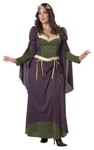 California Costumes Women's Plus-Size Lady In Waiting Plus, Purple, 3X