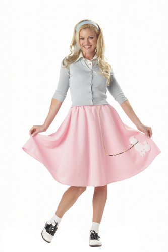 California Costumes Women's Poodle Skirt Costume,Pink,X-Large