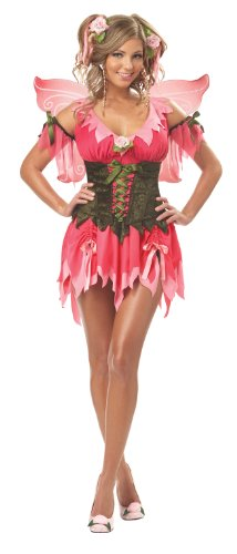 California Costumes Women's Rose Fairy Costume,Pink,Small