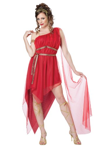 California Costumes Women's Ruby Goddess Adult, Red, X-Small