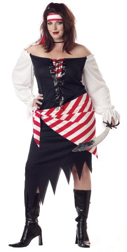 California Costumes Women's Ruby The Pirate Beauty Costume, White/Black/Red, 2XL (18-20)