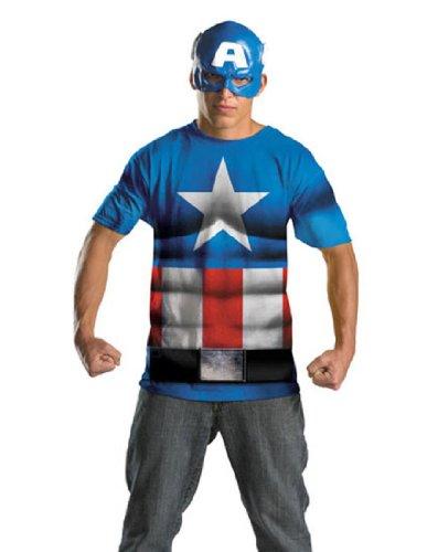 Captain America Alternative Costume No Scars Size 50-52 Plus