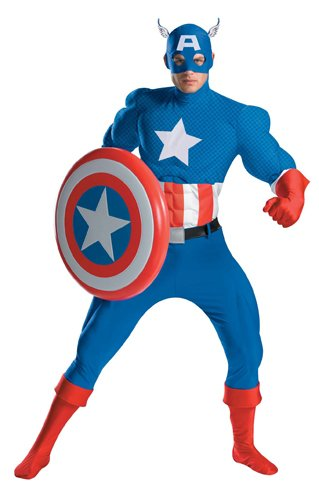 Captain America Rental Costume – X-Large – Chest Size 42-46