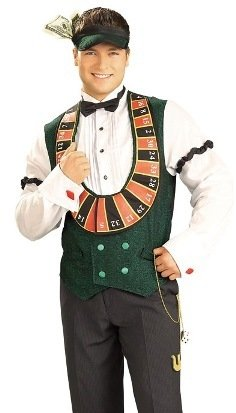 Card Dealer Adult Costume Size X-Large