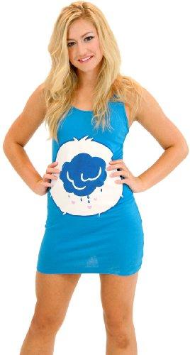 Care Bears Grumpy Bear Blue Costume Tunic Tank Dress (Grumpy Bear) (Blue) (Turquoise) (Juniors Large)