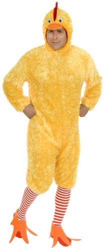 Charades Men's Adult Plus-Size Funky Chicken Costume Set, Yellow, 1X