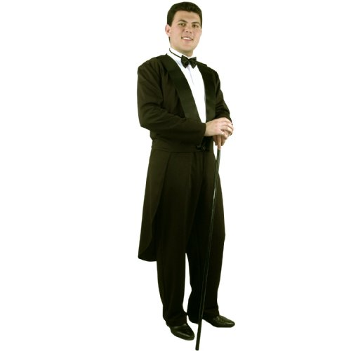 Charades Men's Formalities Tuxedo Jacket, Black, X-Large