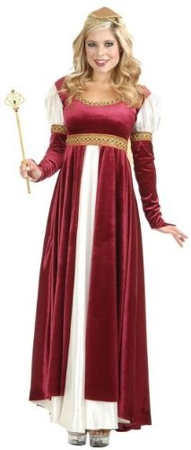 Charades Womens Camelot Renaissance Dress Halloween Costume M