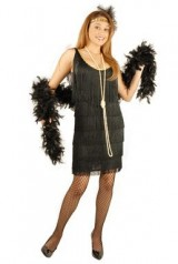 Charades-Womens-Fashion-Flapper-Dress-Black-Large-0-0
