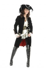 Charades-Womens-Pirate-Vixen-Jacket-Black-Large-0