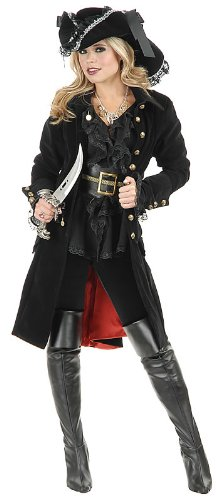 Charades Women's Pirate Vixen Jacket, Black, X-Large