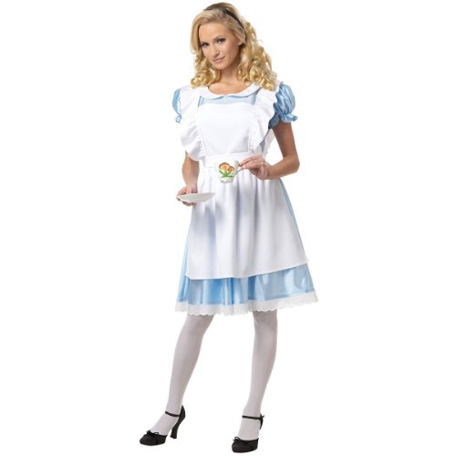 Classic Alice in Wonderland Costume – Large – Dress Size 10-12