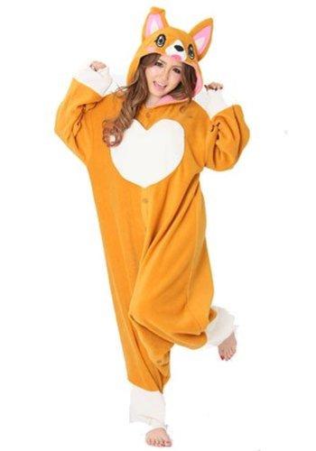 "Corgi Kigurumi – Adult ""Corgi Dog"" Fancy Dress Costume, One Size Fits All"