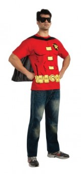 DC-Comics-Mens-Robin-T-Shirt-With-Cape-And-Mask-Red-Large-0