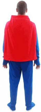 DC-Comics-Superman-1-piece-Footed-Onsie-Adult-Blue-Pajama-with-Cape-Adult-Small-0-0