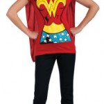 DC-Comics-Wonder-Woman-T-Shirt-With-Cape-And-Headband-Red-Large-Costume-0-0