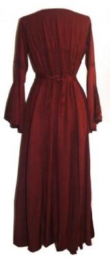 DR003-Vampire-Gothic-Costume-Rayon-Satin-Renaissance-Dress-Brown-2X-0-3