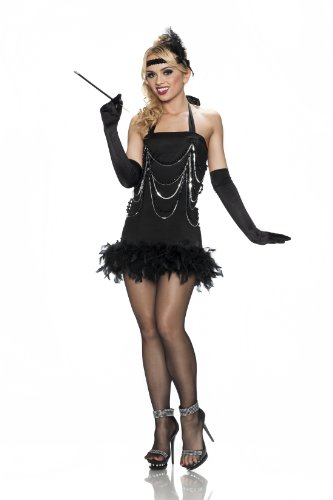 Delicious All That Jazz Costume, Black, Medium/Large