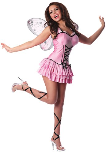 Delicious Plus-Size Butterfly Sexy Costume, Pink, 1X/2X