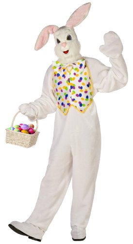 Deluxe Easter Bunny Adult Costume – White – One-Size