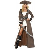 Deluxe-Pirate-Captain-Costume-Large-Dress-Size-8-0-0