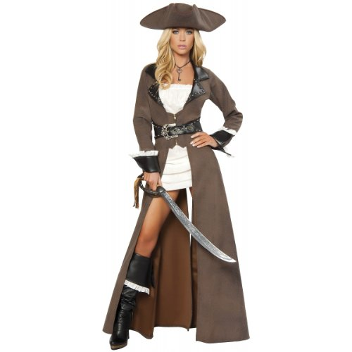 Deluxe Pirate Captain Costume – Large – Dress Size 8