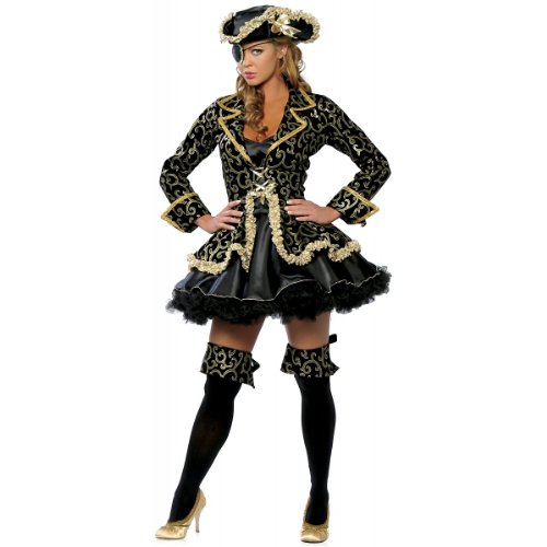 Deluxe Pirate Costume – Small/Medium – Dress Size 2-6