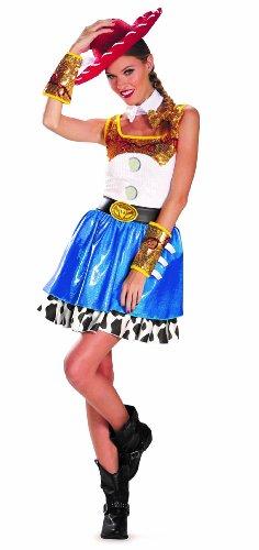 Disguise Disney Pixar Toy Story Jessie Glam Womens Adult Costume, Blue/White/Yellow/Black, Medium/8-10