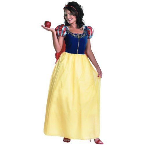 Disguise Disney Snow White Deluxe Adult Costume, Yellow/Red/Blue, XX-Large/22-24