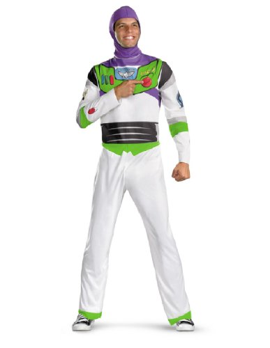 Disguise Inc Mens Disney Toy Story – Buzz Lightyear Adult Costume White X-large