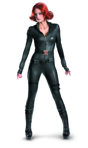 Disguise Marvel's Avengers Movie Black Widow Avengers Theatrical Adult Costume, Black, Small/(4-6)