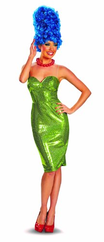 Disguise The Simpsons Marge Glam Deluxe Womens Costume, Green/Red, Large/12-14
