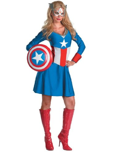 Disguise Unisex Adult Classic American Dream, Red/White/Blue, Small (4-6) Costume