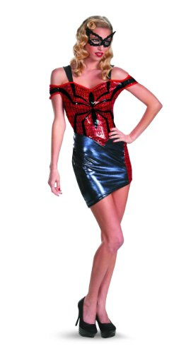 Disguise Women Of Marvel Spider-Man Spider-Girl Glam Womens Adult Costume, Blue/Red/Black, Large/12-14