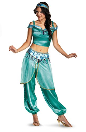 Disguise-Womens-Disney-Aladdin-Jasmine-Deluxe-Costume-Green-Medium-0-0