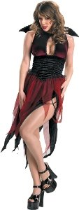 Disguise-Womens-Garden-Of-Evil-Veinia-Halloween-Costume-RedBlack-L-0