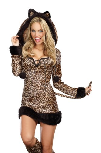 Dreamgirl Cheetah Luscious, Brown, Medium