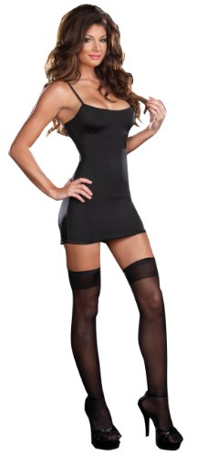 Dreamgirl Costume Starter Basic Dress, Black, Small