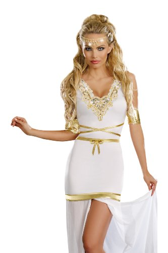 Dreamgirl Goddess Of Love Aphrodite, White, Medium