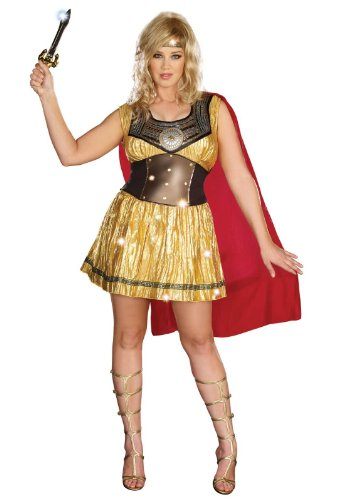 Dreamgirl – Golden Warrior Adult Plus Costume