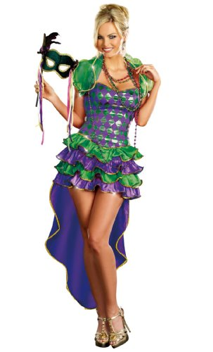 Dreamgirl Mardi Gras Maven, Purple, Extra Large