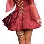 Dreamgirl-PLUS-Juliet-Jacquard-Print-Dress-Burgundy-3X-4X-0-4