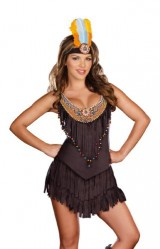 Dreamgirl-Reservation-Royalty-Native-American-Costume-Black-Medium-0-0