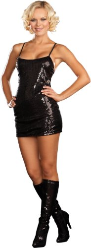 Dreamgirl Sequin Dress, Black, Large